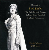 Recordings Bidu Sayao CD Cover 7110