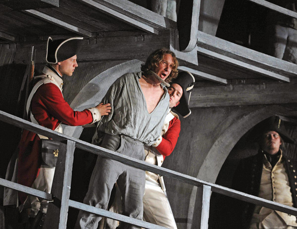 the hanging of billy budd in Billy budd, sailor: an inside  the surgeon admits that the absence of spasmodic movement in billy during the hanging was phenomenal in the sense that such.