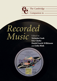 Books Recorded Sound Cover 9110