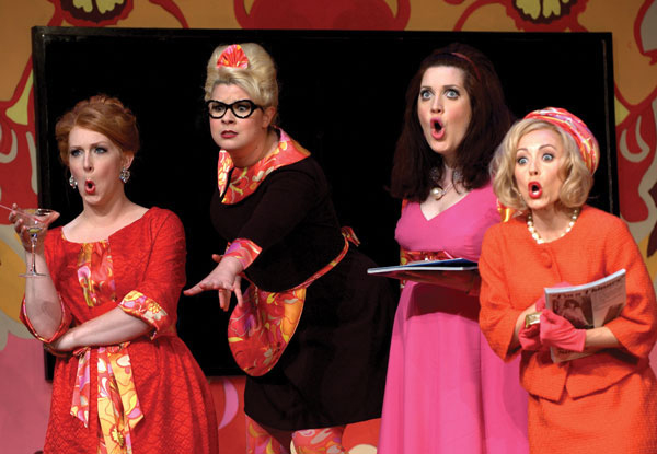 Ammann, Mannino, Stonikas and Rust, the lively ladies of Donne Curiose at Wolf Trap  © Kim Pensinger Witman 2011