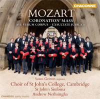 Recordings Mozart Choral Cover 712