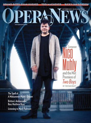 Opera News Composer Nico Muhly And The Met Premiere Of Two Boys
