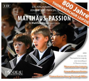 Recordings Matthew Passion Cover 313