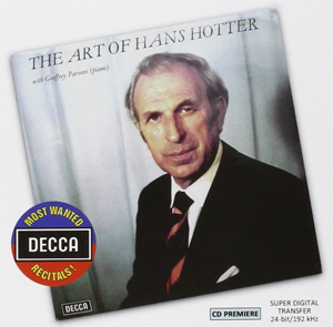 Recordings Hans Hotter Cover 1115