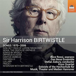Recordings Birtwistle Songs Cover 1115