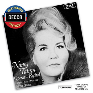 Recordings Tatum Operatic Recital Decca Cover 315
