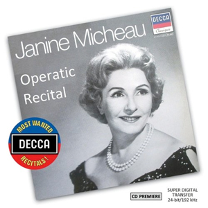 Recordings Operatic Recital Janine Micheau Cover 515