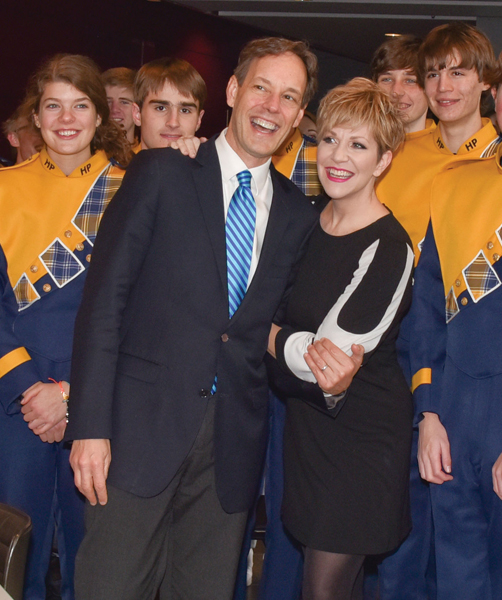 797cfd070 With Great Scott star Joyce DiDonato and members of Highland Park High  School's Highlander Band during Dallas Opera's 2015–16 season preview