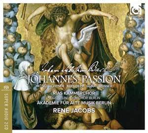 Recording Cover Bach Johannes Passion cover 916